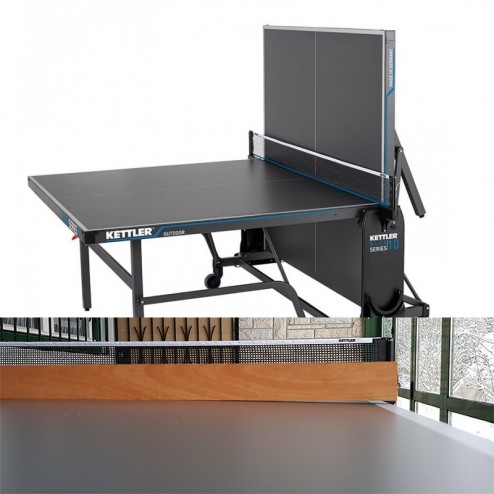 Occasions Table de ping-pong Kettler Outdoor 10 (Modèle 2021). Une fois déballé et assemblé.
