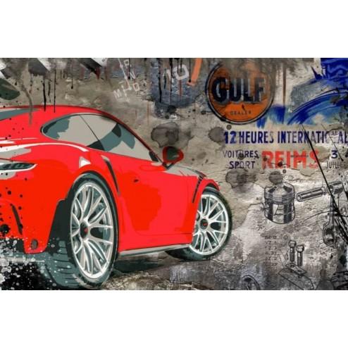 Photo d'art Porsche GT3 Wallart 3D