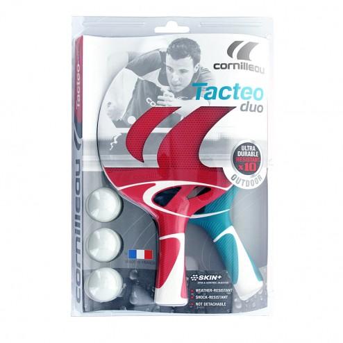 Raquettes de Ping Pong Set Tacteo Duo (2 raquettes et 3 balles)