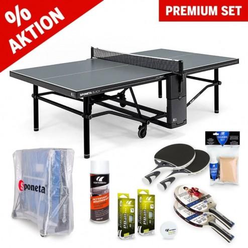 Kit premium de tennis de table (table, housse, raquettes et balles)