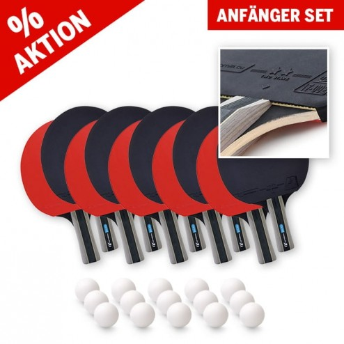Set débutant de raquette de tennis de table (10 raquettes et 15 balles)