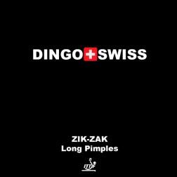 Raquettes Ping Pong revêtement Dingo Swiss Zik Zak