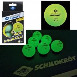 6 balles de ping-pong (fluorescentes)