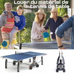 Louer du matériel de tennis de table (table, raquettes et balles)