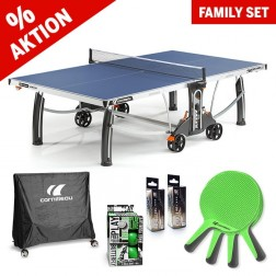 Kit familial de tennis de table « Outdoor All in one » bleue