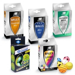 Set de balles de tennis de table