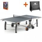 Cornilleau Tischtennistisch Crossover 500M Outdoor grau mit gratis Abdeckhaube