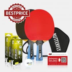 Set de raquettes ping-pong Premium Butterfly