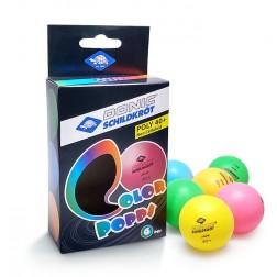 Balles de tennis de table colorées 6 pcs.