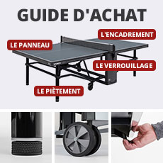 Guide d'achat tables de ping-pong
